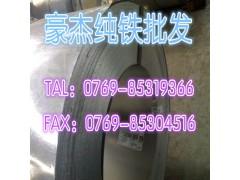 广东主营电磁阀用纯铁 进口易切削纯铁棒  大量现货