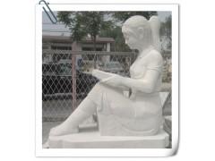 精品石雕校園雕塑之女生雕像 漢白玉女生雕塑 石雕女生雕像