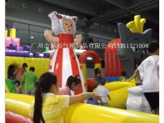 陕西儿童充气蹦蹦床气垫闯关道具充气滑梯充气卡通定做