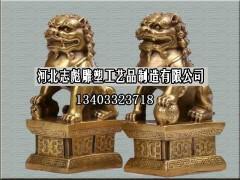 故宫狮子_志彪雕塑公司订做铜狮子