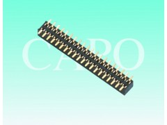 1.0mm排母 双排 SMT贴片式 塑高2.0 连接器