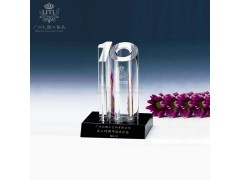 公司十周年員工獎杯,服務之星水晶獎杯公司最佳敬業獎杯