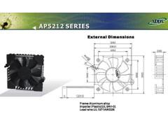 ADDA芯片風機 AP5212MX-E70