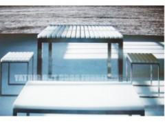 雅亭户外白色高级铝合金台椅
