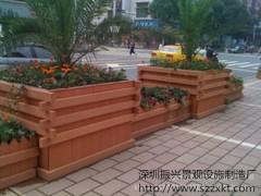 園林木制花箱-廈門木塑花箱價格-道路花箱護欄-振興景觀
