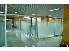 写字楼安装不锈钢玻璃隔断拆玻璃
