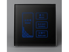 廠家直供智能照明控制系統電容式六鍵面板