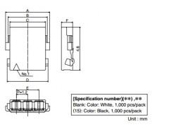 河北供應樣品廣瀨hrsDF57-2S-1.2C2孔1排白色