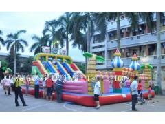 浙江充气喜洋洋城堡江西充气大型儿童玩具气垫乐园充气广告模型