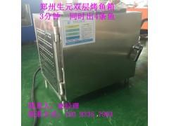 供應鄭州生元生產雙層烤魚箱價格   烤魚箱廠家