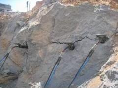 矿山开采之美凯联劈石棒