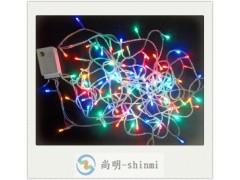 10m100燈LED彩色燈串,圣誕節日裝飾LED彩色燈串批發