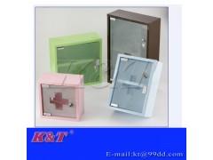 厂家促销不锈钢喷漆化妆箱/急救箱