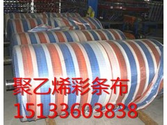 河北彩条布厂家,河北双膜聚乙烯彩条布生产商