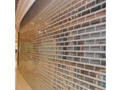 上海不锈钢电动卷帘门 豪华透明水晶门 不锈钢推拉门定做安装