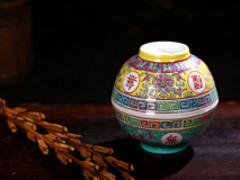 立星陶瓷景德鎮傳統粉彩瓷羅漢湯碗_新款景德鎮傳統粉彩瓷羅漢湯碗——俏皮的景德鎮傳統粉彩瓷羅漢湯碗