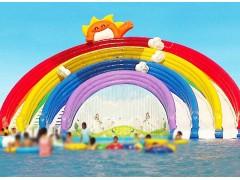 厂家直销水上滑梯彩虹滑梯大型水上冲关