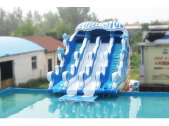 鄭州浪鯨充氣滑梯波浪滑梯
