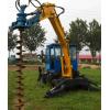 挖掘机式挖坑机电线挖坑机直销