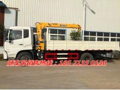 東風天錦6噸8噸隨車吊自卸功能貨箱6米