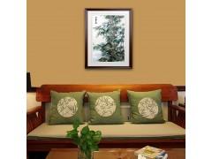 純手工刺繡家居客廳玄關裝飾畫批發中國風易攜帶手工禮品送老外
