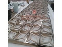 高檔不銹鋼屏風 鏤空鍍色不銹鋼屏風