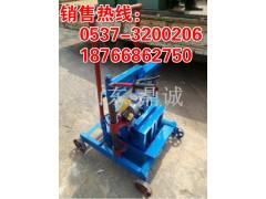 天津移动式空心砖机小型移动水泥砖机一模两块空心制砖机设备