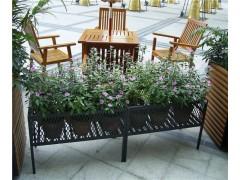 成都步行街不銹鋼花箱 異形花盆座椅 不銹鋼戶外花瓶定制