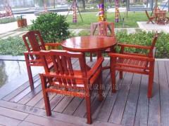 深圳供應大量休閑一桌四椅, 舒適耐用實木休閑棋盤椅