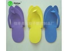 美鳳廠家直銷一次性折疊拖鞋居家簡易美容院拖鞋女eva產品