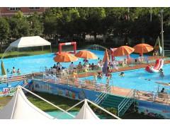 銷售鄭州浪鯨泳池設備移動水上樂園,支架泳池