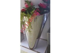 佛山供應花店裝飾不銹鋼花盆  高檔拉絲玫瑰金不銹鋼花盆定制