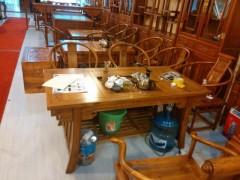 德州知名的老榆木古典三件厂家——安徽韩式餐边柜