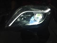 哪家公司奔驰GLK大灯改装专业:福清奔驰GLK大灯改装低升高