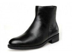 3515强人男靴 冬季07校尉常服绒皮鞋 皮靴新款男潮靴