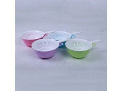 双层带柄塑料水果篮