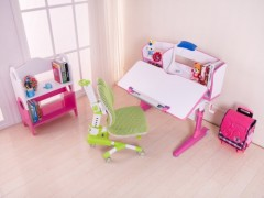 【公司供應】手搖可升降學習桌@兒童書桌椅&首席童伴