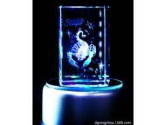 厂家水晶内雕工艺品 创意12生肖星座水晶激光内雕