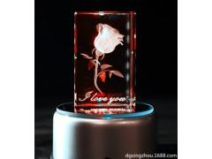广东厂家定制3D内雕玻璃高端定制 玻璃水晶内雕加工工艺