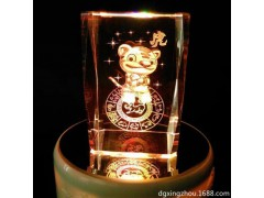 厂家供应十二生肖3D内雕礼品 水晶激光内雕 纪念品水晶生肖