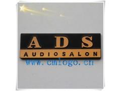 供应压铸【音响】铝标牌 黑底拉丝铭牌 氧化logo设计