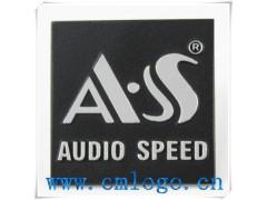 供應專業音響壓鑄鋁標牌 噴漆黑底銀字拉絲銘牌 logo設計