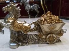 現代家居擺件馬拉車招財裝飾品