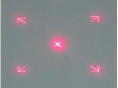 箭头方框定位激光灯头专用光斑形十字线定位激光光栅片
