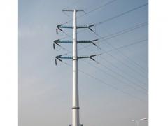 转角电力钢杆