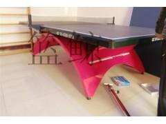 内蒙古鄂尔多斯彩虹腿乒乓球台供应商室内装饰好选择