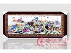 陶瓷艺术瓷板画 景德镇人物花鸟瓷板画 优质瓷板画批发报价