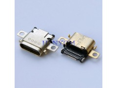 Type-C 沉板母座 双耳带螺丝孔 双贴SMT式