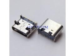 Type-C 母座短体 板上14P单排SMT贴片 90度