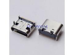 Type-C 母座短体 板上16P单排SMT贴片 90度